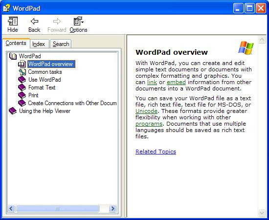 Need help with wordpad?